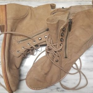 Sam Edelman Leather Ankle Boots Size 8.5